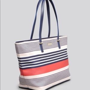 Kate Spade Red Cedar Stripe Small Harmony Tote